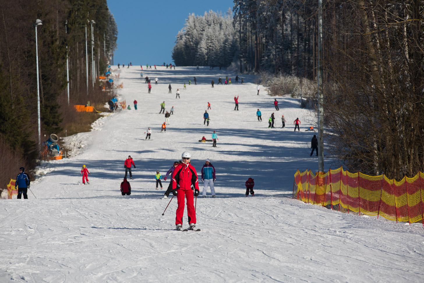 Wintersport bij het Lipnomeer
