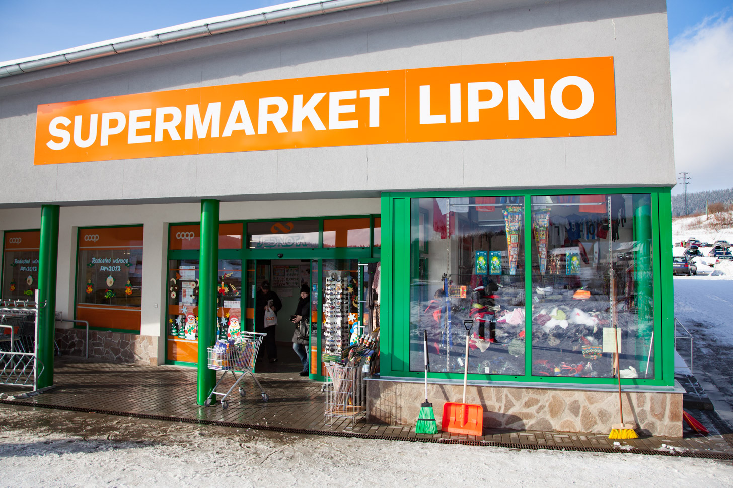 De Coop supermarkt in Lipno nad Vltavou