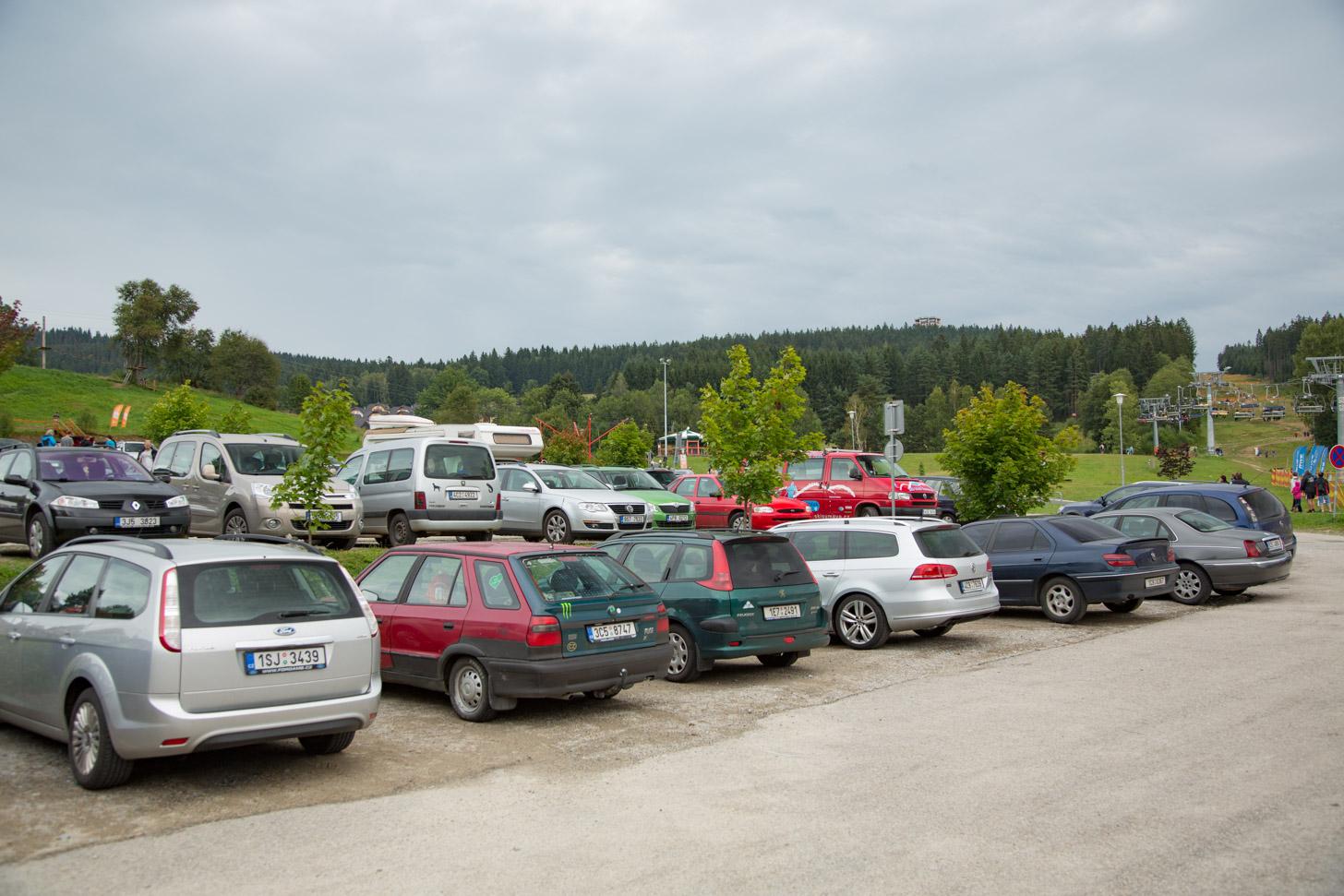 parkeerterrein in Lipno