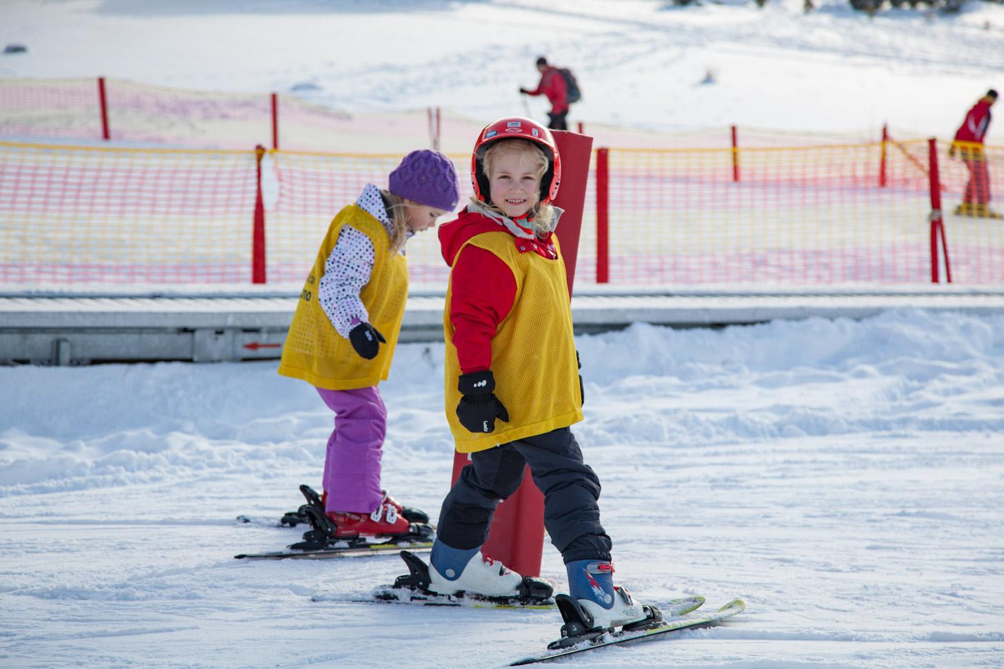 Een beginnende skiër